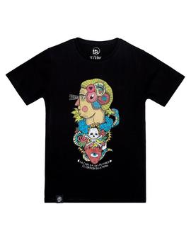 ASIS PERCALES HUMAN BRAIN T-SHIRT BLACK