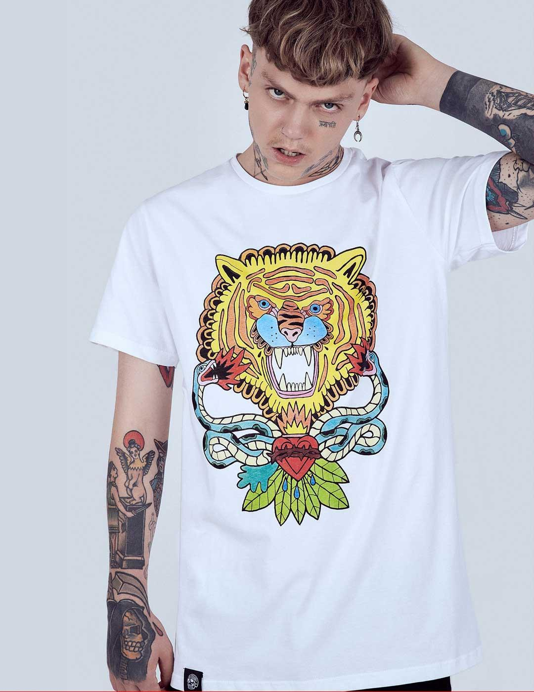 ASIS PERCALES SNAKES T-SHIRT WHITE
